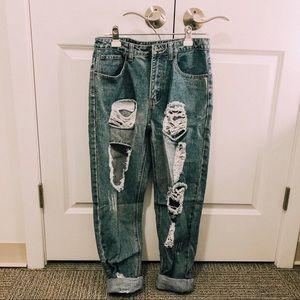 BOOHOO boyfriend jeans size  6